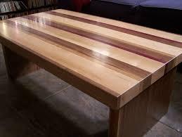 handmade coffee table handmade striped coffee table by american woodworks custommade