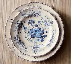 vintage floral salad plate set of 4 pottery barn