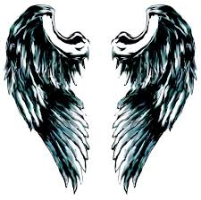 sketches of angel wings clip art library