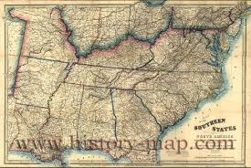 Confederate States Map by Map