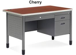 Gray Computer Desk Metal Desk Shop Industrial Grade Commercial Computer Desks