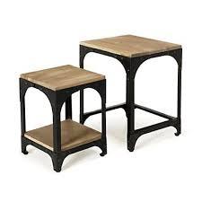 alinea bout de canapé ately tables basses gigognes style industriel décoration