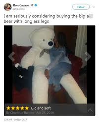Teddy Meme - giant teddy bear is stunning buyers with is legs daily mail