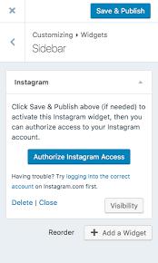 email instagram support instagram widget support wordpress com