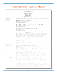 Job Resume Sample Fresh Graduate by Graduate Resume Sample Resume For Your Job Application