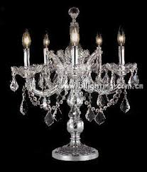 Small Table Lamp With Crystals Amazing Crystal Chandelier Table Lamp Chrome Round Crystal
