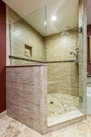 glass mosaic tile bathroom ideas with cream stone bathroom