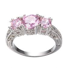 white gold engagement rings uk gorgeous 5 0 ct pink sapphire silver engagement ring 10kt white
