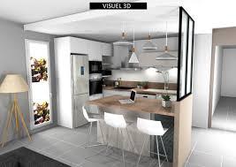 cuisine ouverte sur s駛our architecte d intérieur cuisiniste décoratrice maître d oeuvre rhône
