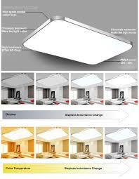 3year warranty square ceiling light acylic retractable ceiling