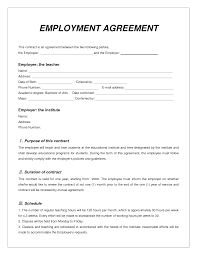 Free Event Planner Contract Template Top 5 Free Employment Agreement Templates Word Templates Excel