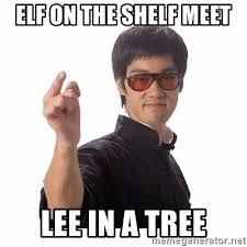 Bruce Lee Meme - elf on the shelf meet lee in a tree bruce lee meme generator