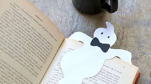 how to make a paper ghost bookmark diy crafts tutorial