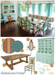 Aqua Dining Room by Vibrant Dining Room Get The Look Distinctive Cottage