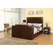 Bed Frame With Tv In Footboard Brown Bed With Tv Lift
