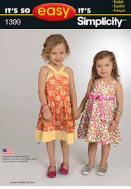 simplicity 1399 it u0027s so easy toddlers u0027 and child u0027s dress