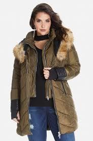 Plus Size Down Coats Plus Size Avalanche Faux Fur Trim Puffer Coat Fashion To Figure
