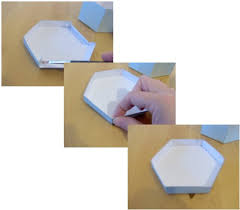 things to make and do make and decorate a hexagonal box