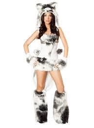 Cute Eskimo Halloween Costumes Siberian Husky Premium Edition Costume