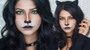 easy cat makeup for halloween youtube