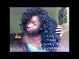 how to curl marley hair crochet braids youtube