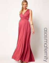 asos maternity exclusive maxi dress in grecian drape maternity