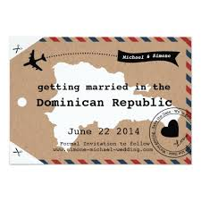 luggage tag save the date republic airmail luggage tag save date paper invitation card