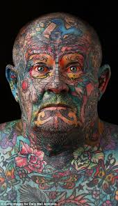 reformed gangster gets every inch of his body tattooed including