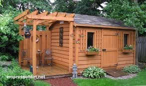 Building Backyard Shed Charming Garden Sheds From Rustic To Modern Empress Of Dirt