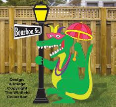 mardi gras alligator all yard garden projects mardi gras gator woodcraft pattern