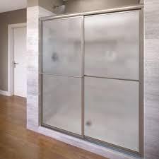 home depot shower glass doors basco deluxe 51 3 8 in x 68 in framed sliding shower door in