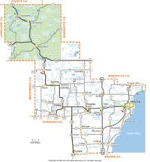 Southern Wisconsin Map by Oconto County Wisconsin Map
