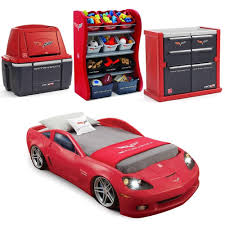 Corvette Comforter Set Step 2 Race Car Bed Replacement Stickers Red Corvette Toy Box