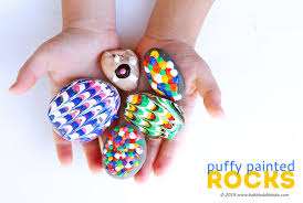 easy art for kids puffy painted rocks babble dabble do