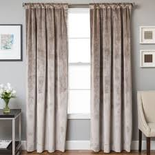 velvet rod pocket back tab lined window curtain panel rod pocket