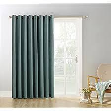 100 Inch Blackout Curtains Amazon Com Sun Zero Easton Blackout Patio Door Curtain Panel 100