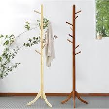 100 oak hatrack wooden coat rack stand 177cm 8 wood hook coat