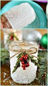 how to make mason jar lights with christmas lights diy epsom salt snowy mason jar instruction diy christmas mason jar