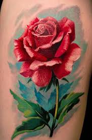 beautiful realistic rose tattoo design stencil golfian com