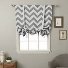 Tie Up Window Curtains Aurora Home Solid Insulated 63 Inch Blackout Tie Up Shade Free