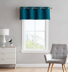 warm home designs teal blackout curtains valance scarves tie