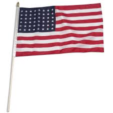 Blue Flag With Stars Usa 48 Star 12in X 18in Stick Flag