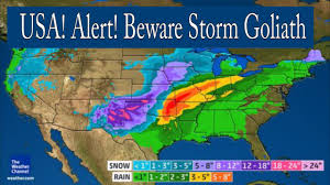 Weather Map North America by Weird Weather Alert America Be Aware Of Giant Winter Storm