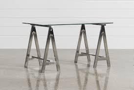Stool For Desk Jenica Glass Desk Living Spaces