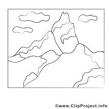 Coloriage montagne divers image à télécharger  Coloriages a