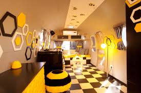 bee themed living room old mac daddy luxury trailer park in