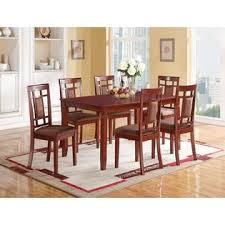 Casual Dining Room Furniture Sets Acme United Sonata Casual Dining Set Cherry Finish Modern 7pc