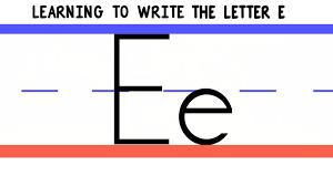 write the letter e abc writing for kids alphabet handwriting