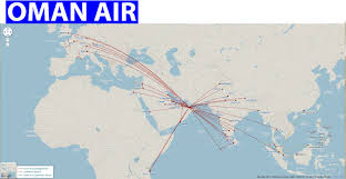 Alaska Route Map by International Flights Oman Air Route Map