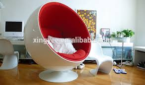 Modern Ball Chair Modern Living Room Furniture Wool Fabric Fiberglass Stereo Egg